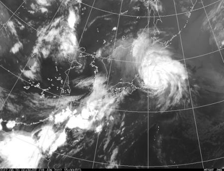 [Now] Typhoon 04 is hitting Fukushima 2