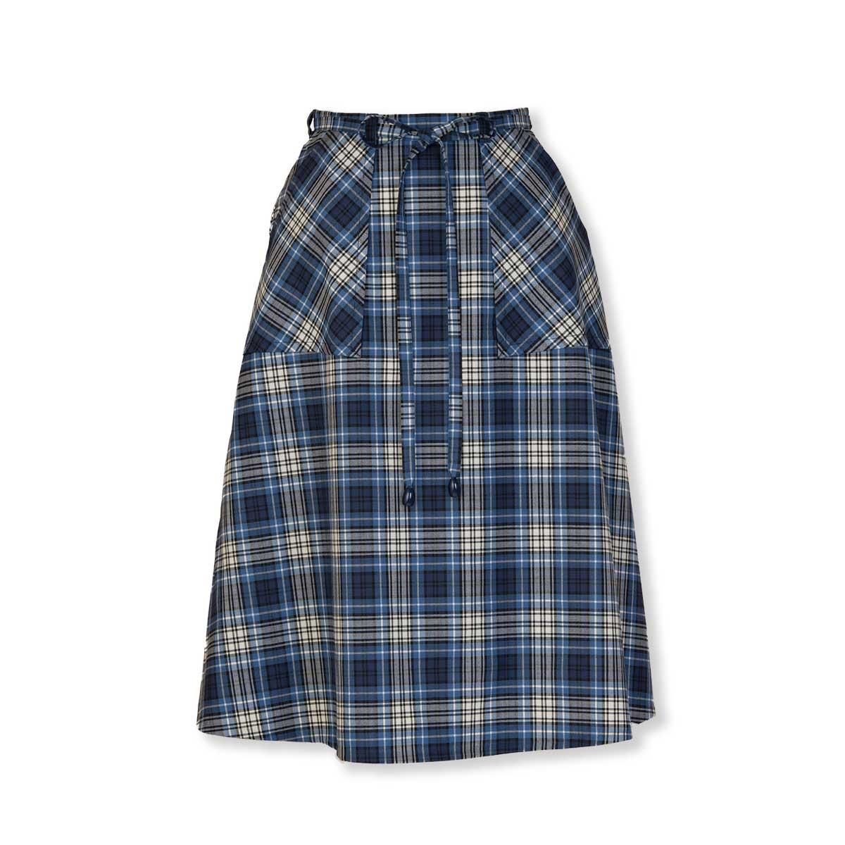 ひも巻きスカート
