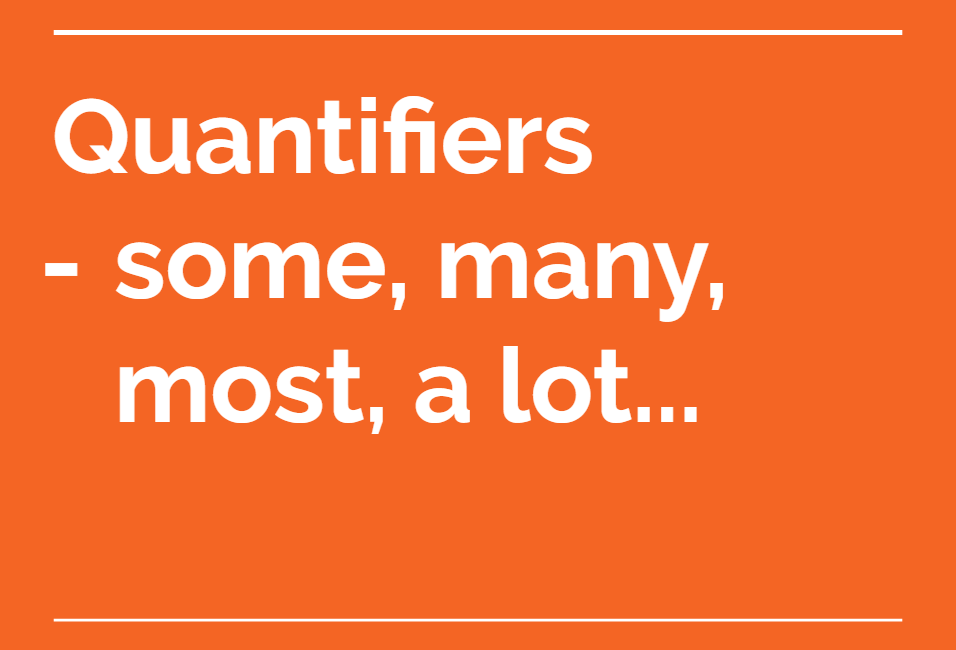 Lesson of the Week: Quantifiers – Some, Many, Most, A Lot