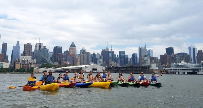 Kayaking outing on the Hudson River