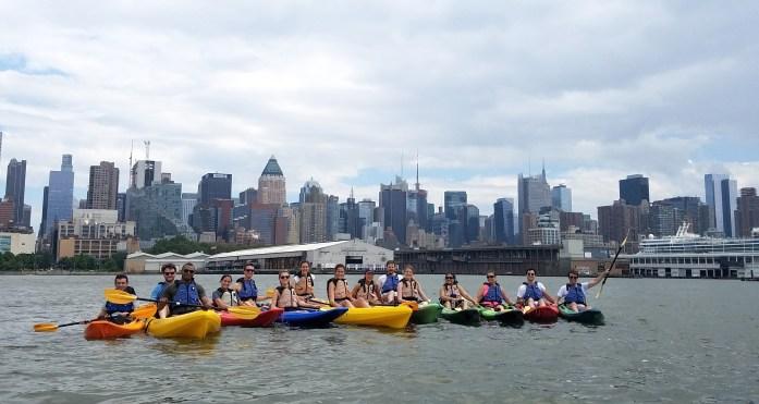 Kayaking outing on the Hudson River