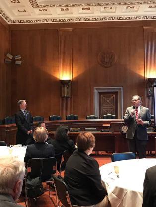Sen. John Boozman speaking to Advocacy Day attendees