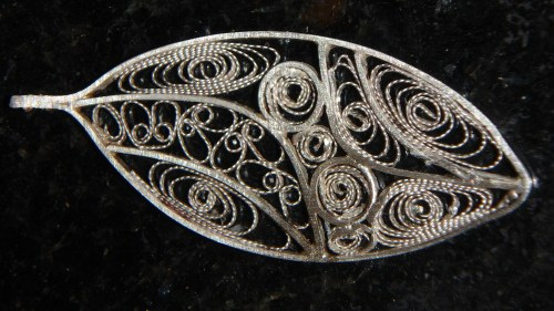 Intricate filigree art leaf