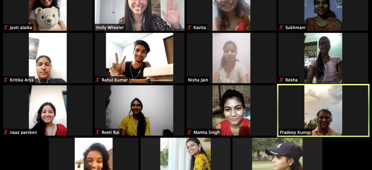 Calling volunteers for online English conversation practice with New Delhi NGO