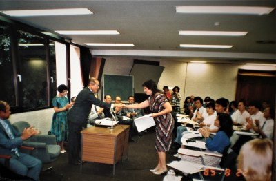 Wendy san's Fulbright-/Japan Honors and Awards 1985