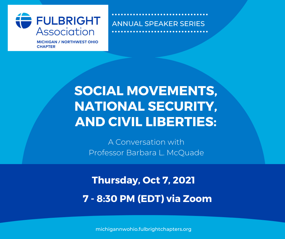 Michigan/NW Ohio Chapter Event: Social Movements, National Security, and Civil Liberties