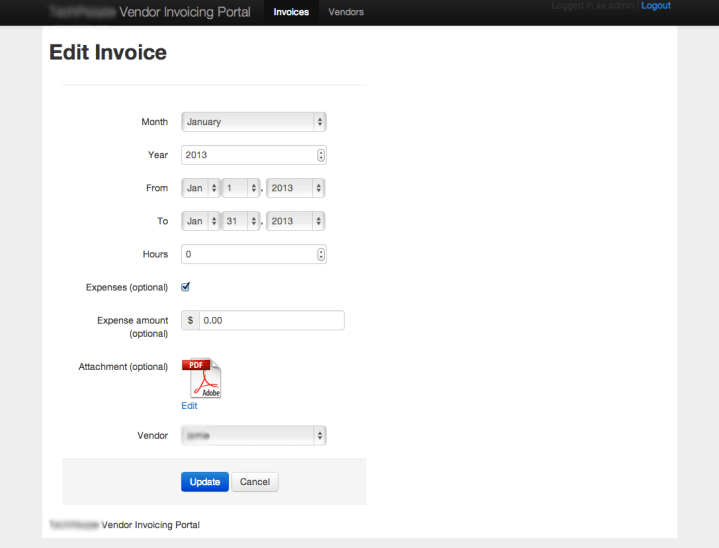 Project Profile: Vendor Invoice Portal
