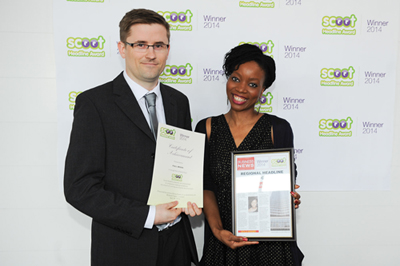 Nick Jones of Full Media Ltd collects award