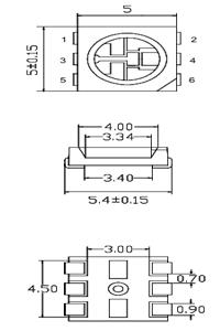 Размеры светодиода SMD 5050