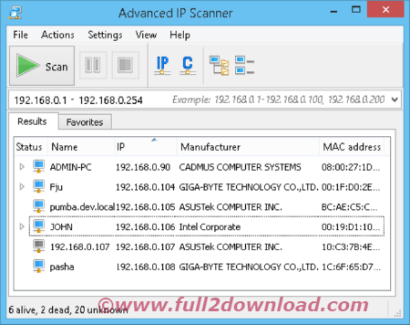 Download Advanced IP Scanner v2.5