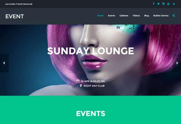 Themify Event Premium WorPress Theme