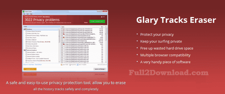 Download Glary Tracks Eraser v5.0.1.103