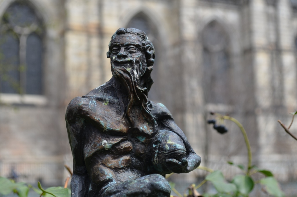 Male Sculpture at Saint John the Divine Church in Manhattan