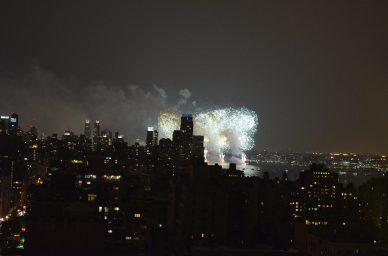 Fireworks in the Husdon River