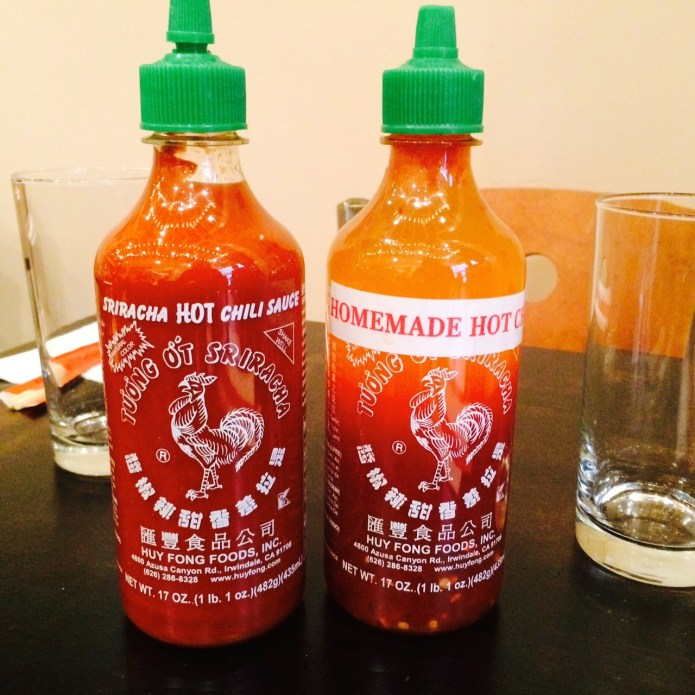 Fake Sriracha at a Restaurant in New York City