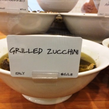Italian Grilled Zucchini at Dean and Deluca in Soho NYC