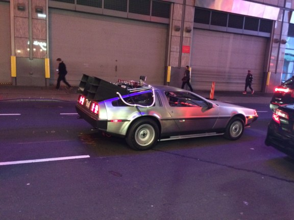 Marty McFly in Times Square