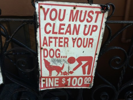 Picking up After your Dog Sign