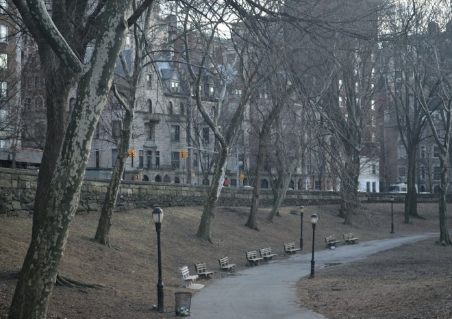 South Facing Path in Riverside Park