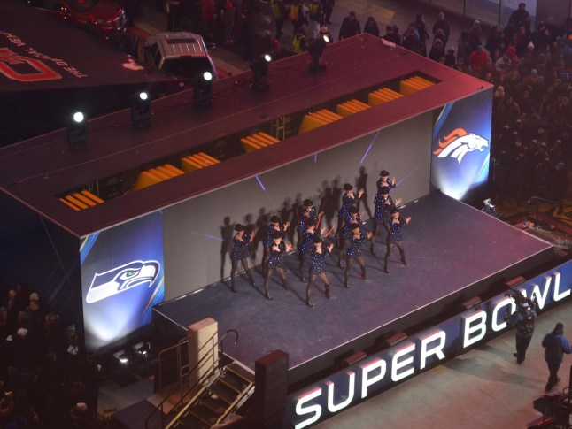 Rockettes Performing in Times Square