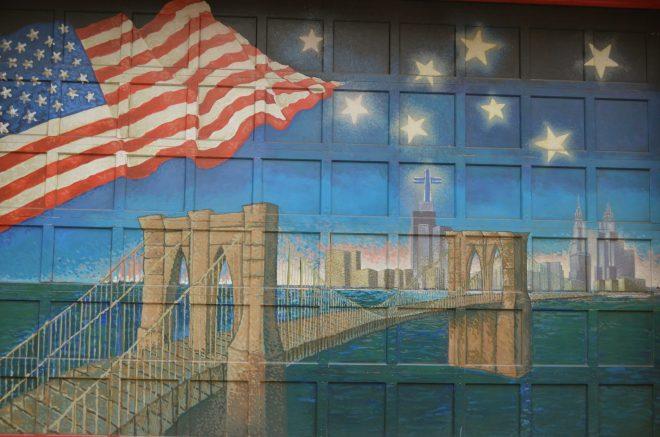 Mural of the Brooklyn Bridge