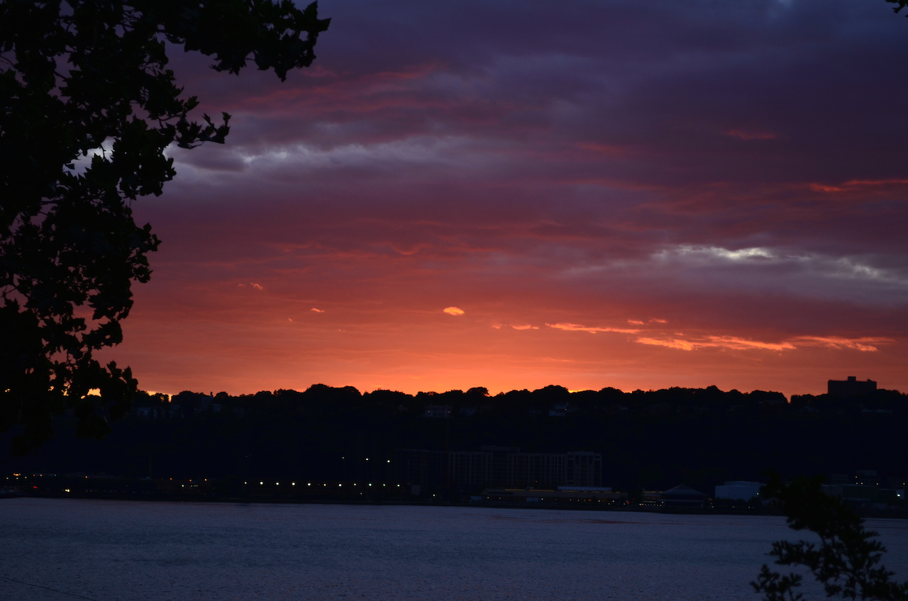 Spectacular Hudson River Sunset