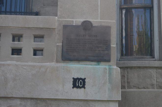 Bailey House Landmark Register Sign
