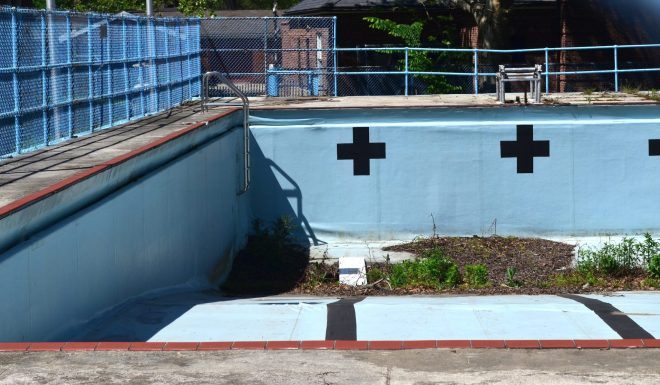 Empty Pool On Governors Island