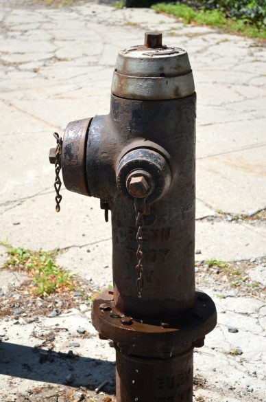 Exposed Fire Hydrant At City College of New York