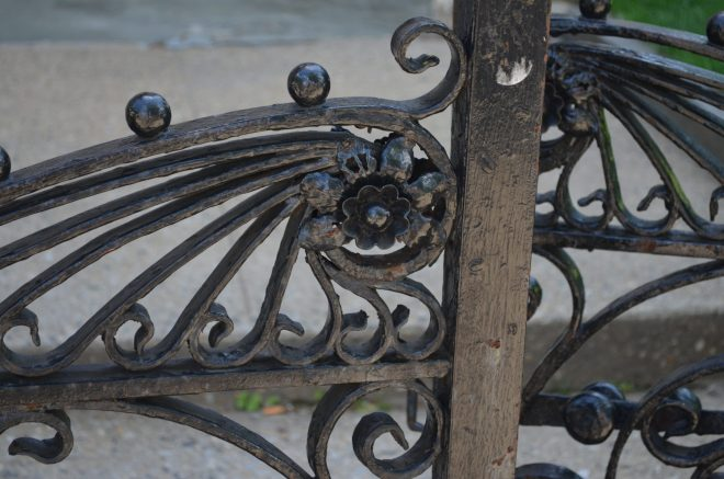 Iron Fence In Front Of The Bailey House
