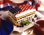 Red White and Blueberry Pound Cake