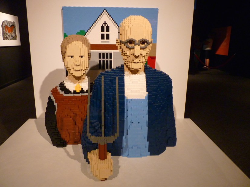 American Gothic in LEGOs at Discovery Times Square