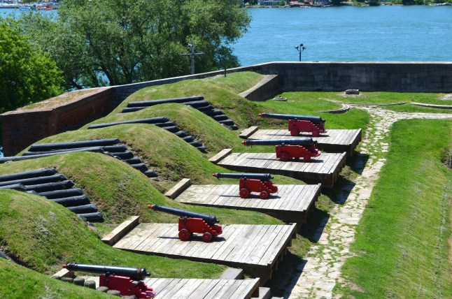 Cannons Overlooking the Niagara River at Fort Niagara