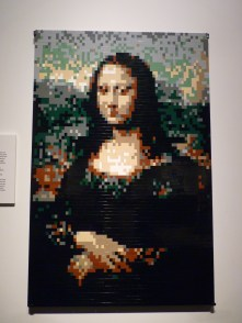 Mona Lisa at Discovery Times Square in LEGOs by Nathan Sawaya