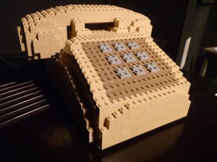 Telephone in Legos by Nathan Sawaya
