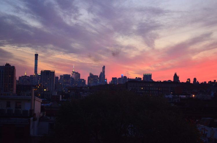 Evening Sky Over Manhattan