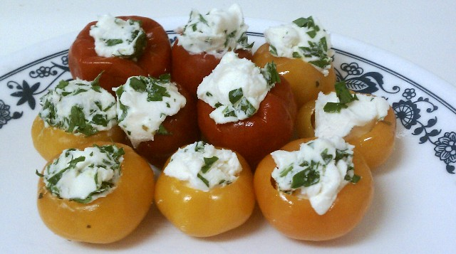 Herbed Goat Cheese Stuffed Peppadew Peppers