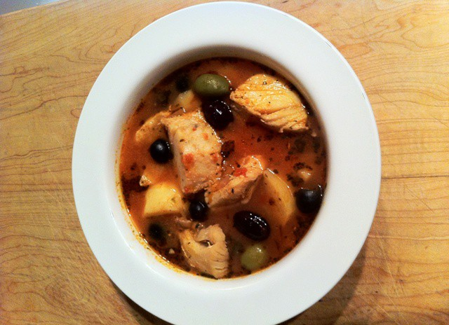 Fish soup made with Baccala and traditionally served on Christmas eve