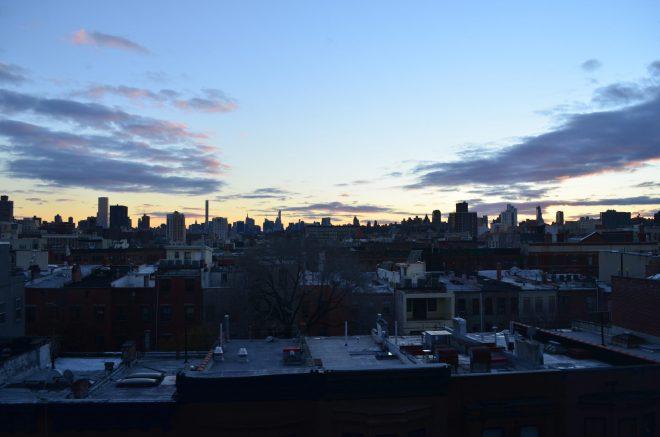 Winter sunset over Manhattan