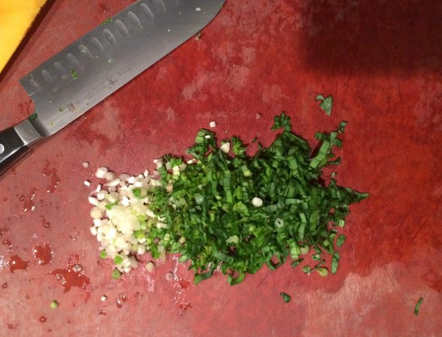 Finely Chopped Spring Ramps
