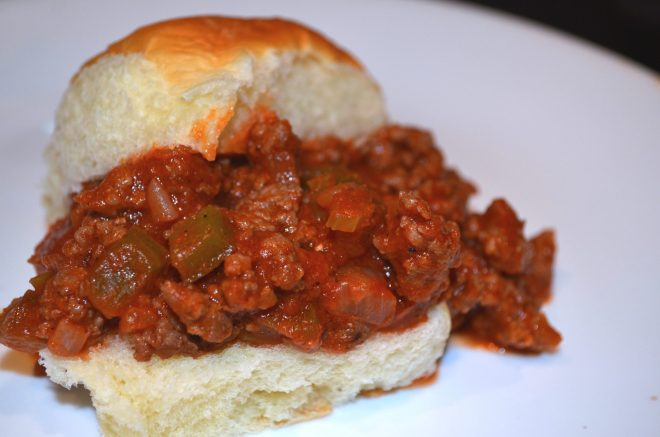 Goat Sloppy Joes with Hawaiian Sweet Rolls