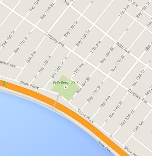 Google Map of Brooklyn Bike Ride Path