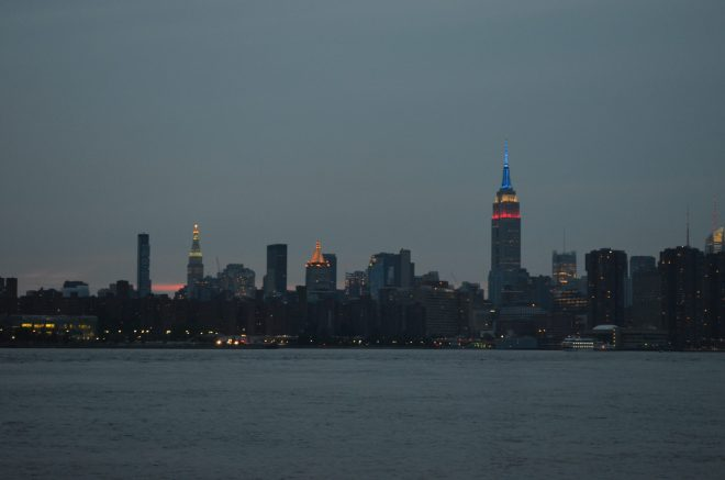 Summer Evening Looking at Manhattan Across the East River