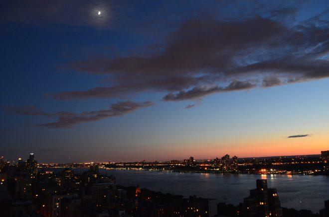 Summer Sunset on the Hudson River