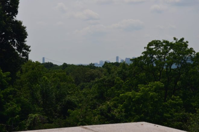 View of the George Washington Bridge from Wave Hill