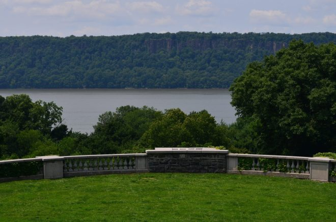 View of the Hudson from Wave Hill in Riverdale Bronx