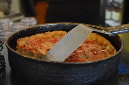 Lou Malnati's Deep Dish Pizza with Sausage