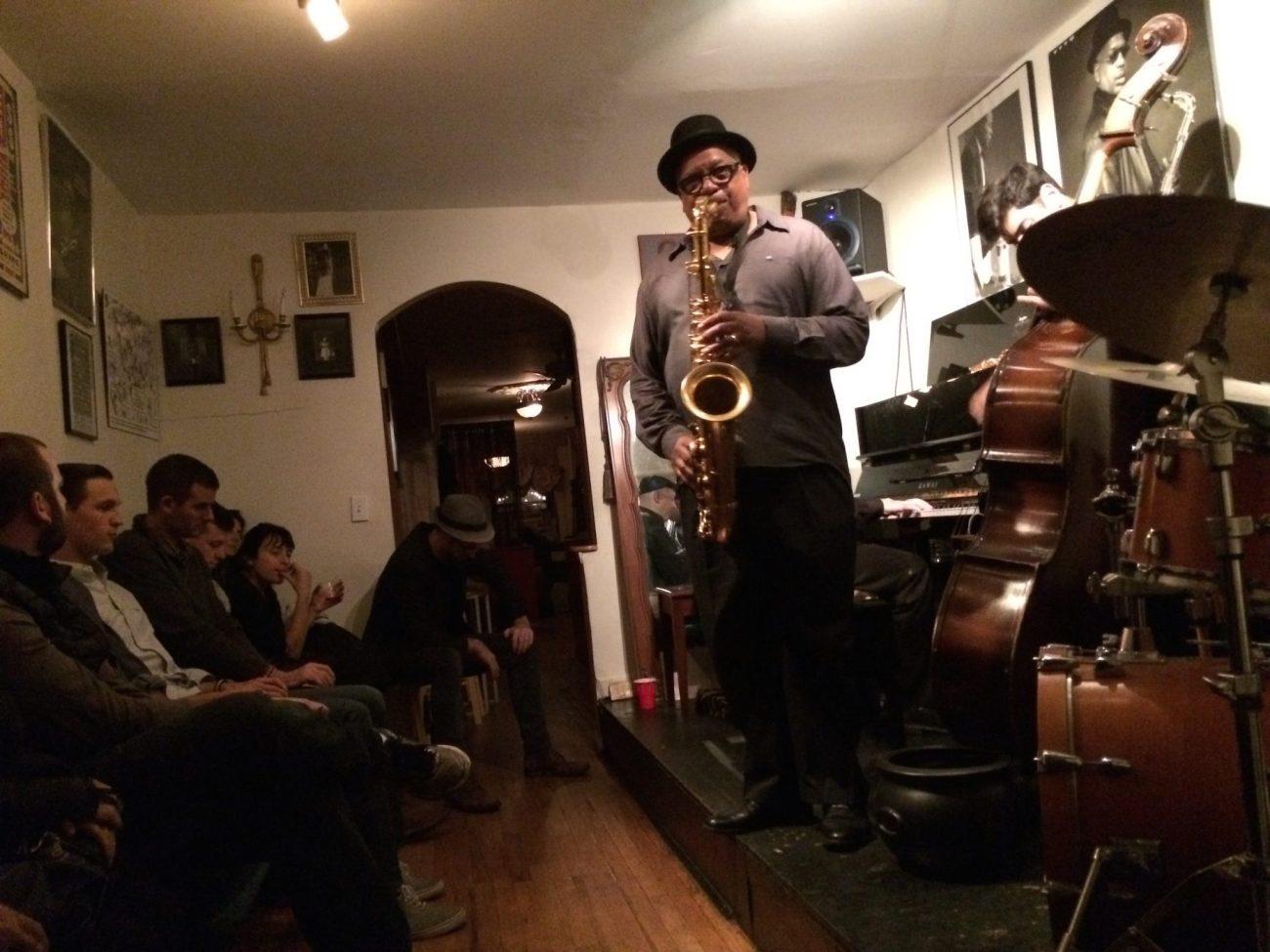 Bill Saxton Playing Saxaphone at Bill's Place