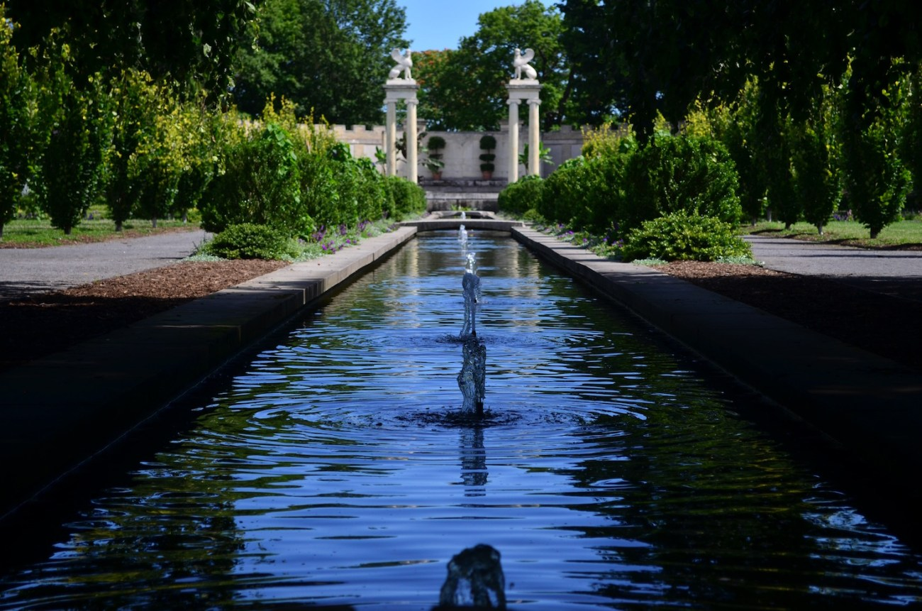 Walled Garden at Untermayer park and gardens along the Hudson River