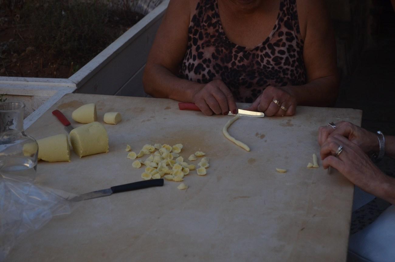Making Orecchiette Pasta in Bari Italy